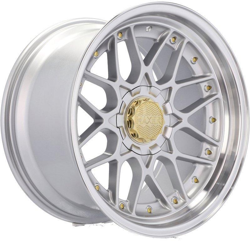 RACING LINE RSSA06 hliníkové disky 10x18 5x112 ET15 SILP - Silver + polished lip